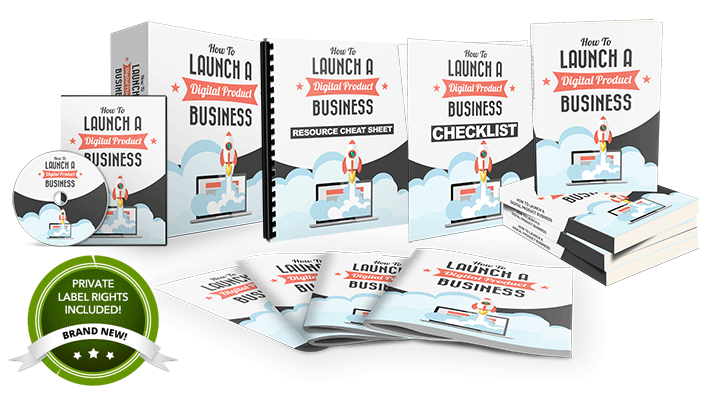 How To Launch a Digital Product Business  PLR Package Download