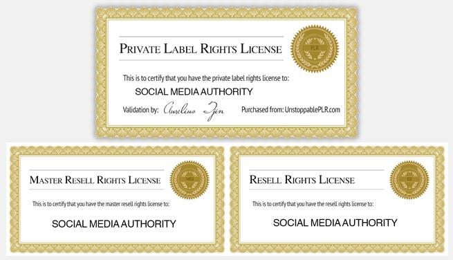 private label rights certificates